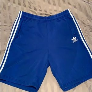 Adidas gym shorts with zippers